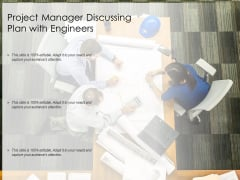 Project Manager Discussing Plan With Engineers Ppt PowerPoint Presentation Outline Elements PDF