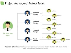 Project Manager Project Team Template Ppt PowerPoint Presentation Layouts Examples