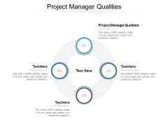 Project Manager Qualities Ppt PowerPoint Presentation Portfolio Graphics Pictures Cpb