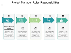 Project Manager Roles Responsibilities Ppt PowerPoint Presentation Summary Influencers Cpb
