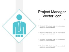 Project Manager Vector Icon Ppt Powerpoint Presentation Summary Design Templates