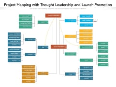 Project Mapping With Thought Leadership And Launch Promotion Ppt PowerPoint Presentation Gallery Vector PDF