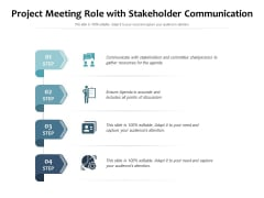 Project Meeting Role With Stakeholder Communication Ppt PowerPoint Presentation File Model PDF