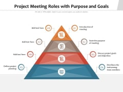 Project Meeting Roles With Purpose And Goals Ppt PowerPoint Presentation File Designs PDF
