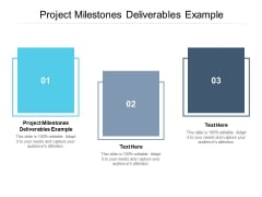 Project Milestones Deliverables Example Ppt PowerPoint Presentation Infographics Images Cpb Pdf