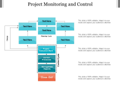 Project Monitoring And Control Ppt PowerPoint Presentation Inspiration Infographics