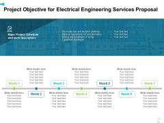 Project Objective For Electrical Engineering Services Proposal Ppt Professional Sample PDF