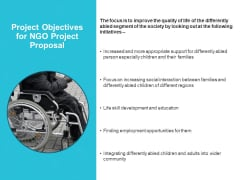 Project Objectives For NGO Project Proposal Ppt PowerPoint Presentation Infographic Template Master Slide