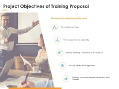 Project Objectives Of Training Proposal Ppt PowerPoint Presentation Infographics Information