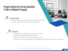 Project Outline For Driving Qualified Traffic To Website Proposal Ppt PowerPoint Presentation Inspiration Pictures PDF