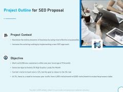 Project Outline For SEO Proposal Ppt Infographics Vector PDF