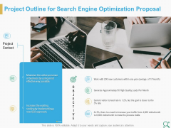 Project Outline For Search Engine Optimization Proposal Ppt Diagram Images PDF