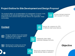 Project Outline For Site Development And Design Proposal Ppt Infographics Example File PDF