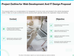 Project Outline For Web Development And IT Design Proposal Ppt PowerPoint Presentation Styles Graphics PDF