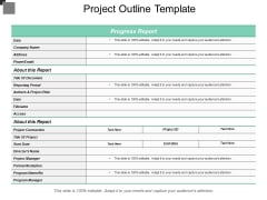 Project Outline Template Ppt PowerPoint Presentation Model Topics
