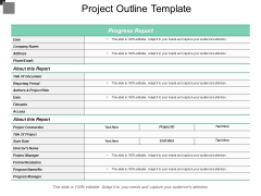 Project Outline Template Ppt PowerPoint Presentation Pictures Example