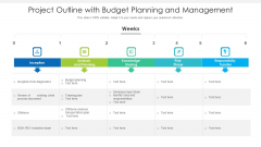 Project Outline With Budget Planning And Management Ppt PowerPoint Presentation Icon Pictures PDF