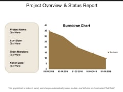 Project Overview And Status Report Ppt PowerPoint Presentation Ideas Templates
