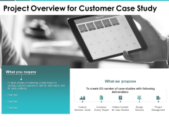 Project Overview For Customer Case Study Ppt PowerPoint Presentation Model Deck