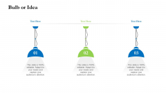 Project Performance Metrics Bulb Or Idea Ppt Gallery Pictures PDF