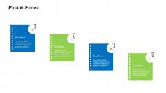 Project Performance Metrics Post It Notes Ppt Layouts Inspiration PDF