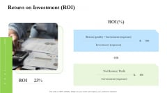 Project Performance Metrics Return On Investment ROI Ppt Summary Graphics Pictures PDF