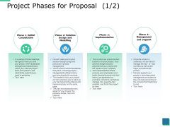 Project Phases For Proposal Management Ppt PowerPoint Presentation Portfolio Visuals