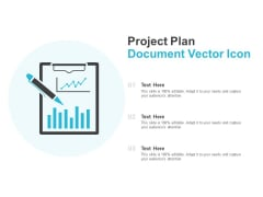 Project Plan Document Vector Icon Ppt Powerpoint Presentation Outline Smartart