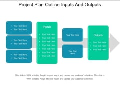 Project Plan Outline Inputs And Outputs Ppt PowerPoint Presentation Ideas Slide Portrait