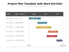 Project Plan Template With Start End Date Ppt PowerPoint Presentation Infographic Template Icon