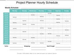 Project Planner Hourly Schedule Ppt PowerPoint Presentation Model