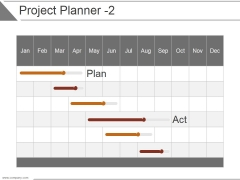 Project Planner Template 2 Ppt PowerPoint Presentation Sample