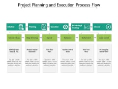 Project Planning And Execution Process Flow Ppt PowerPoint Presentation Gallery Example Introduction PDF