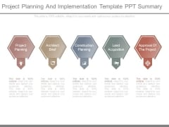 Project Planning And Implementation Template Ppt Summary