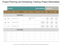Project Planning And Scheduling Tracking Project Deliverables Ppt Powerpoint Presentation Inspiration Maker
