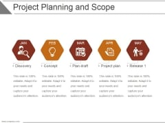 Project Planning And Scope Ppt PowerPoint Presentation Deck
