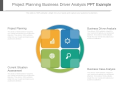 Project Planning Business Driver Analysis Ppt Example