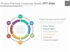 Project Planning Customer Needs Ppt Slide