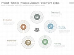 Project Planning Process Diagram Powerpoint Slides