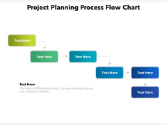 Project Planning Process Flow Chart Ppt PowerPoint Presentation Gallery Ideas PDF