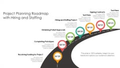 Project Planning Roadmap With Hiring And Staffing Ppt Inspiration Icons PDF