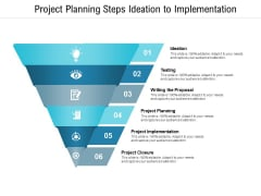 Project Planning Steps Ideation To Implementation Ppt PowerPoint Presentation Slides Professional