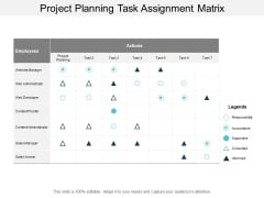 Project Planning Task Assignment Matrix Ppt PowerPoint Presentation Ideas Brochure