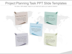 Project Planning Task Ppt Slide Templates