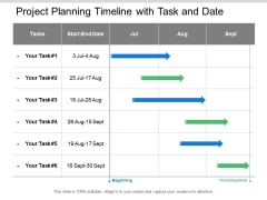 Project Planning Timeline With Task And Date Ppt PowerPoint Presentation Infographic Template Pictures