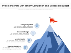 Project Planning With Timely Completion And Scheduled Budget Ppt PowerPoint Presentation Outline Ideas PDF