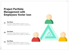 Project Portfolio Management With Employees Vector Icon Ppt PowerPoint Presentation Gallery Elements PDF