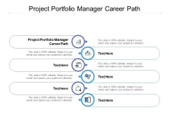 Project Portfolio Manager Career Path Ppt PowerPoint Presentation File Graphics Example Cpb