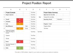 Project Position Report Ppt PowerPoint Presentation Show Themes