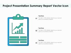 Project Presentation Summary Report Vector Icon Ppt PowerPoint Presentation File Graphics Pictures PDF